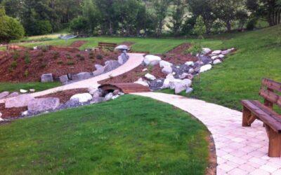Création d'espaces verts dans les Vosges